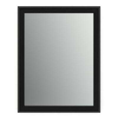 28 in. x 36 in. (M1) Rectangular Framed Mirror with Standard Glass and Easy-Cleat Flush Mount Hardware in Matte Black