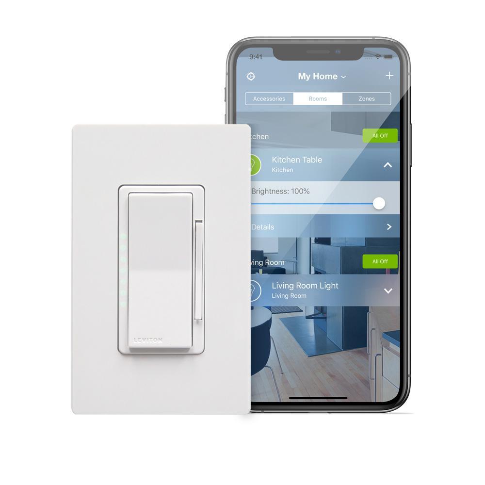 Leviton Decora Smart 600-Watt with HomeKit Technology Dimmer, Works with  Siri