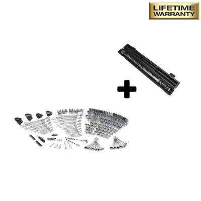 Mechanics Tool Set (349-Piece) with Bonus 1/2 in. Drive Torque Wrench
