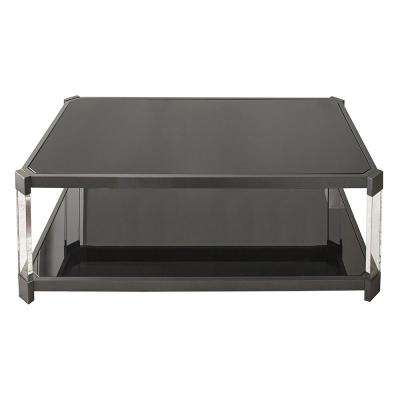 newton cocktail table with casters - Black Coffee Table