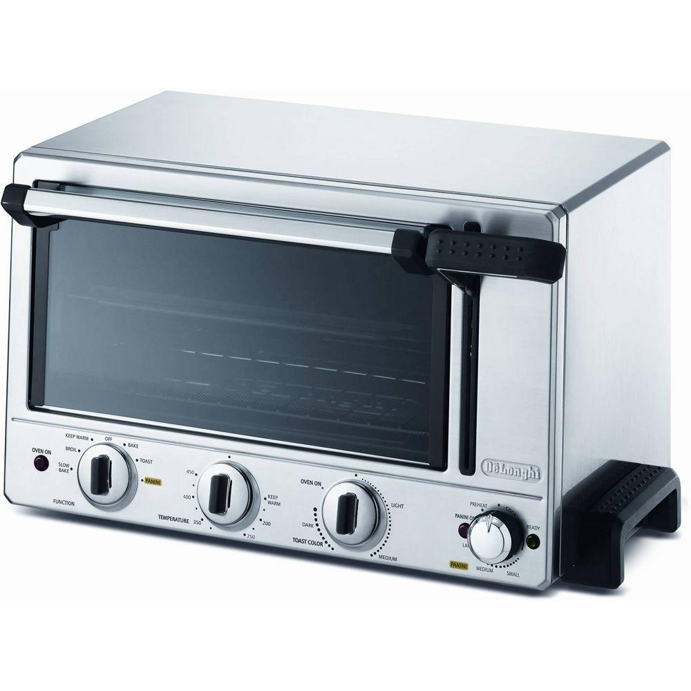 DeLonghi Combination Countertop Panini Press and 6-Slice Toaster Oven-DISCONTINUED