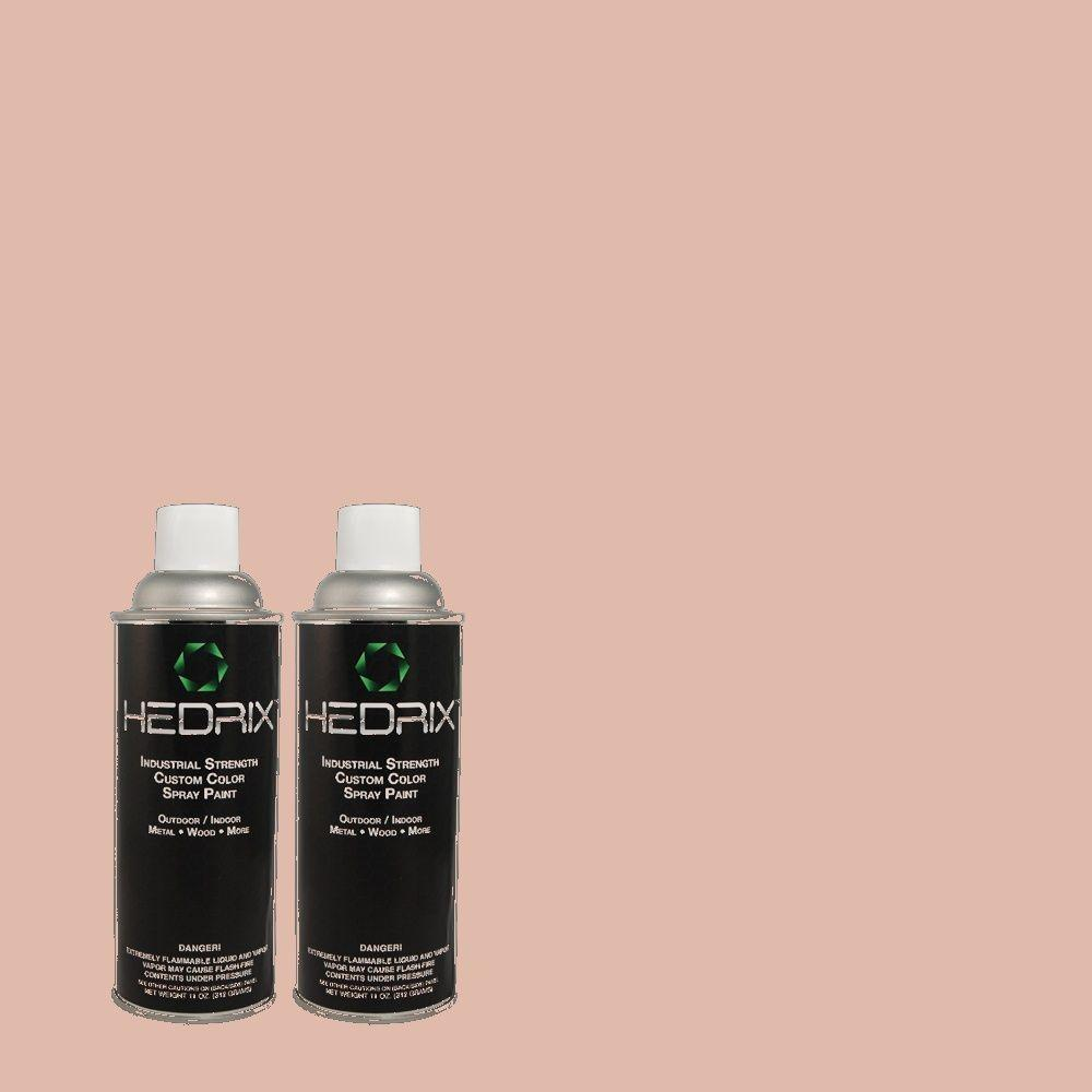 Hedrix 11 oz. Match of 170E-3 Bridal Rose Semi-Gloss Custom Spray Paint (2-Pack)