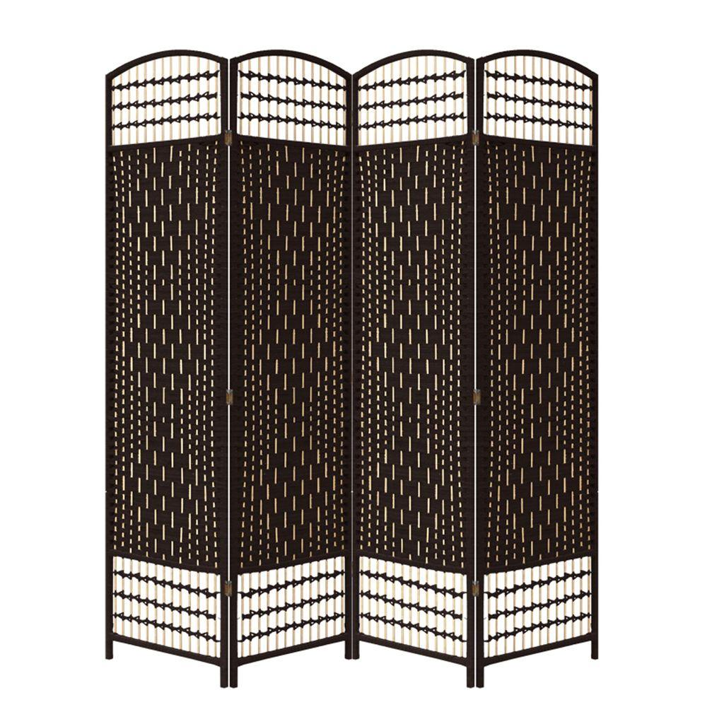 ORE International 5.56 ft. Espresso 4-Panel Room Divider