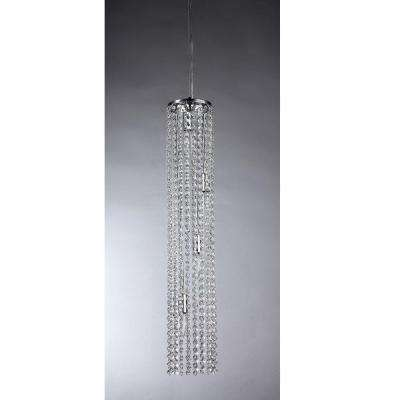 Conrad Crystal 4-Light Chrome Chandelier with Shade