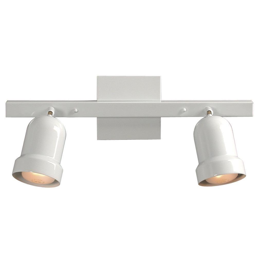 Filament Design N 2 Light White Track Lighting With Directional Heads