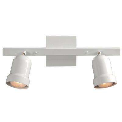 Negron 2-Light White Track Lighting with Directional Heads  sc 1 st  The Home Depot : white track lights - azcodes.com