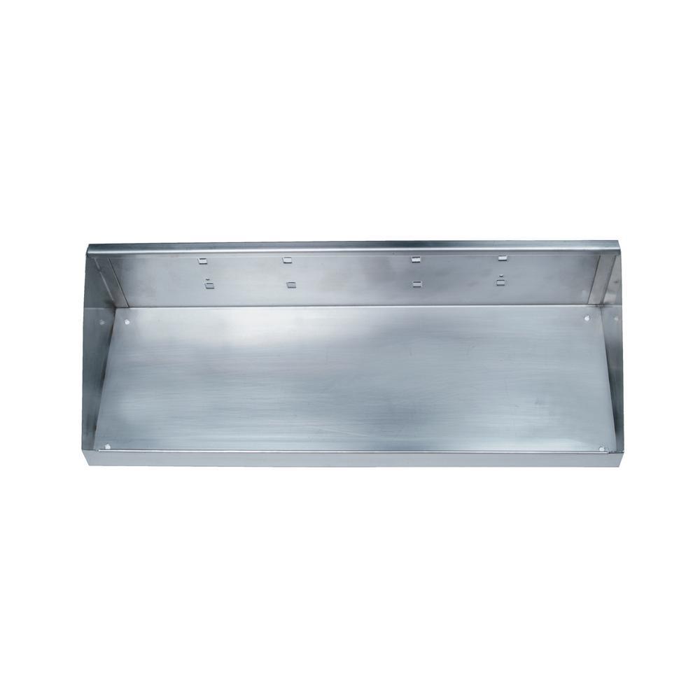 18 in. W x 6-1/2 in. D Stainless Steel Shelf, Quantity- 1
