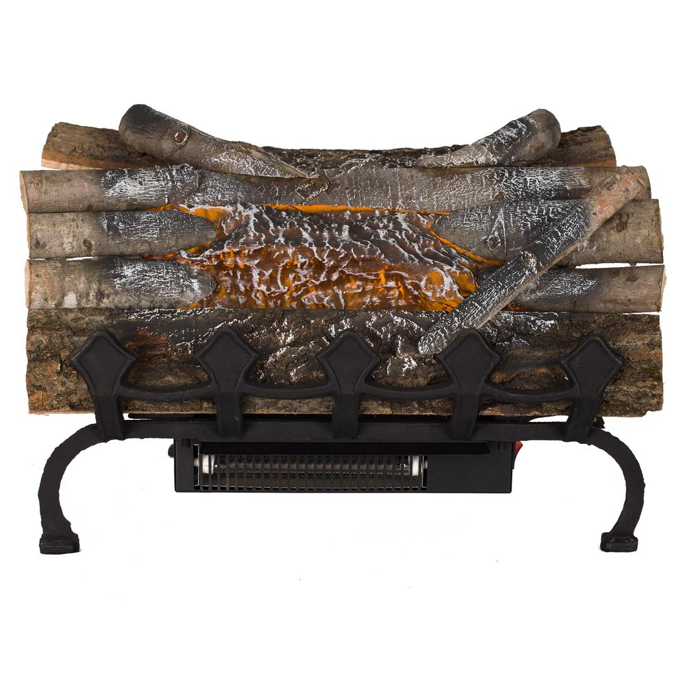 Pleasant Hearth 20.5 in. Crackling Electric Fireplace Logs ...