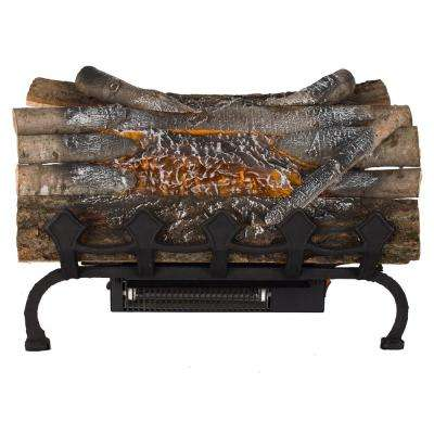 20 5 in  Crackling Electric Fireplace Logs with Grate and Heater