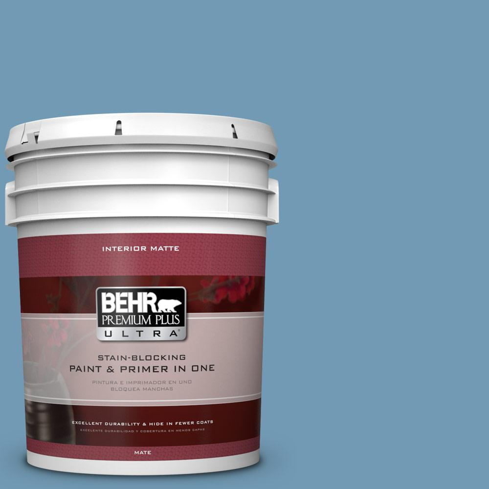 5 gal. #560D-5 Ocean View Matte Interior Paint and Primer in