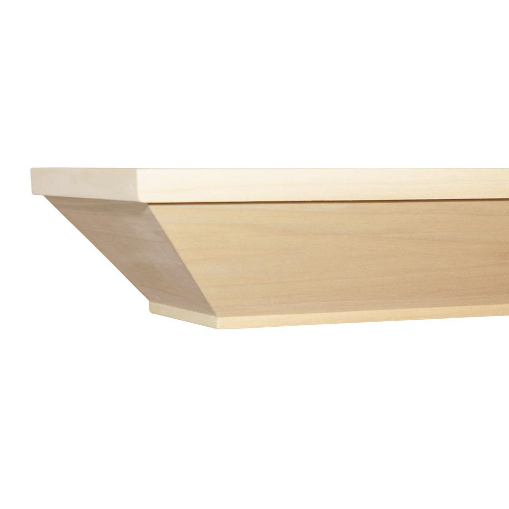 Craftsman 5 ft. Paint Grade Cap-Shelf Mantel