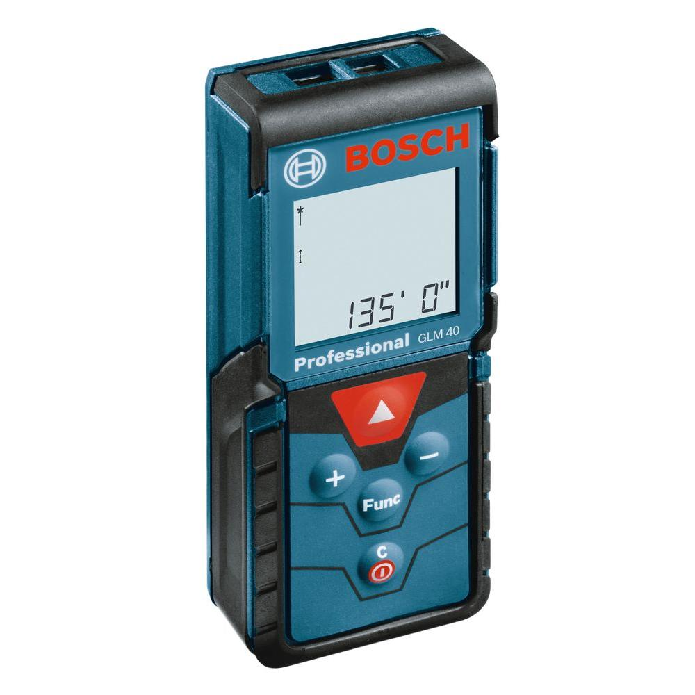 bosch 135 ft. laser measure-glm 40 x - the home depot