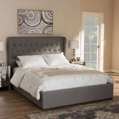 Penelope Gray Fabric. Storage   Beds   Headboards   Bedroom Furniture   The Home Depot