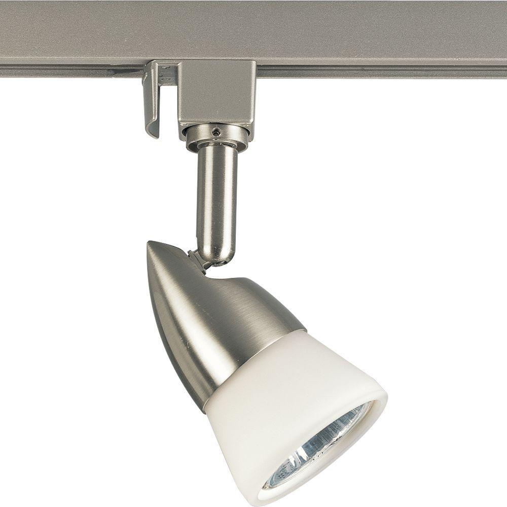 Alpha Trak Collection 1-Light Brushed Nickel Track Lighting Head