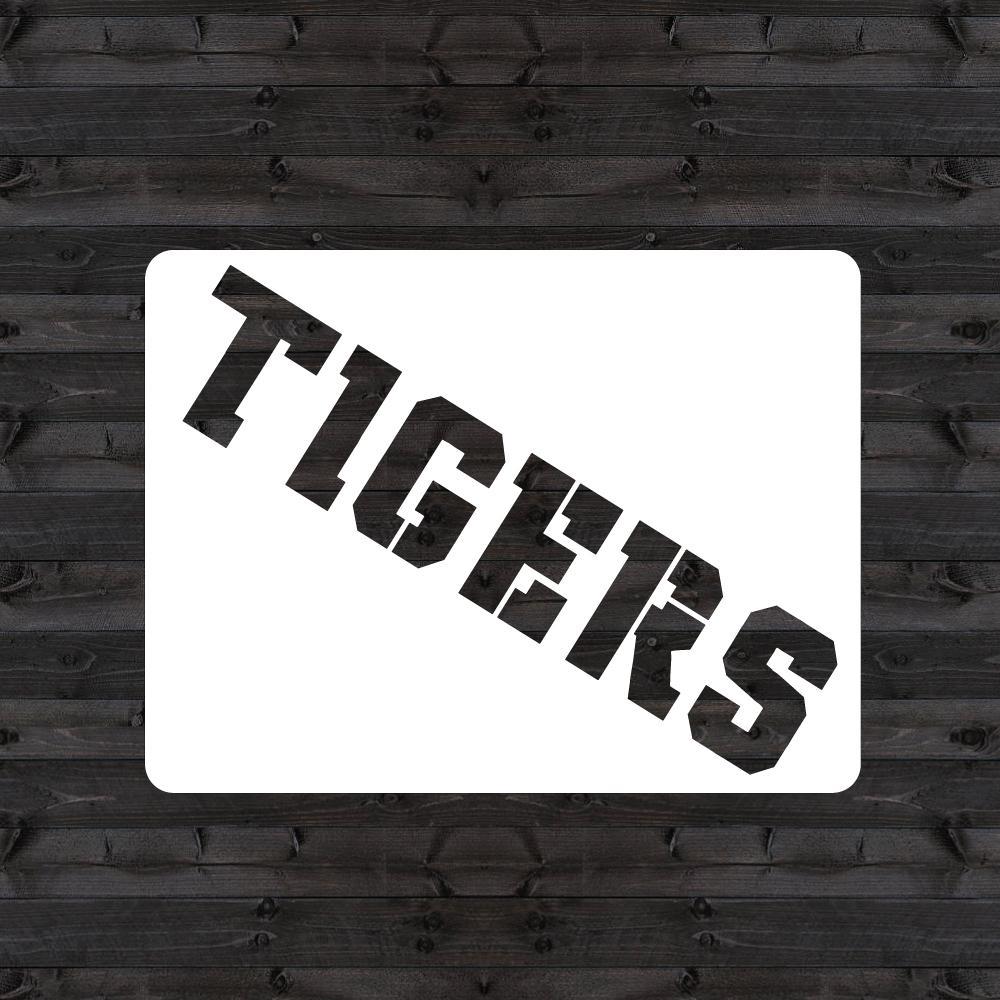 """Clemson """"TIGERS"""" Mini Stencil"""