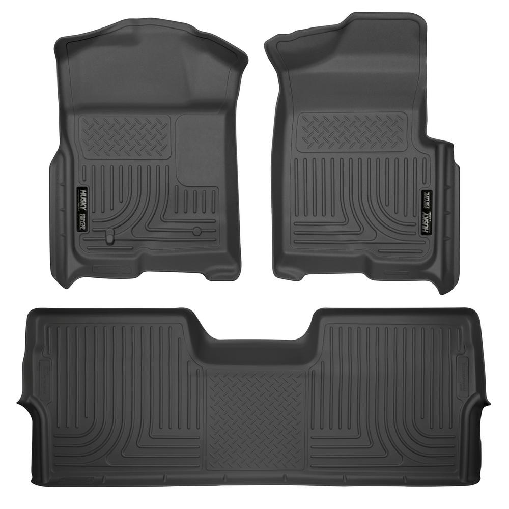 f822c15f9c75c Husky Liners Front & 2nd Seat Floor Liners Fits 09-14 F150 SuperCrew ...