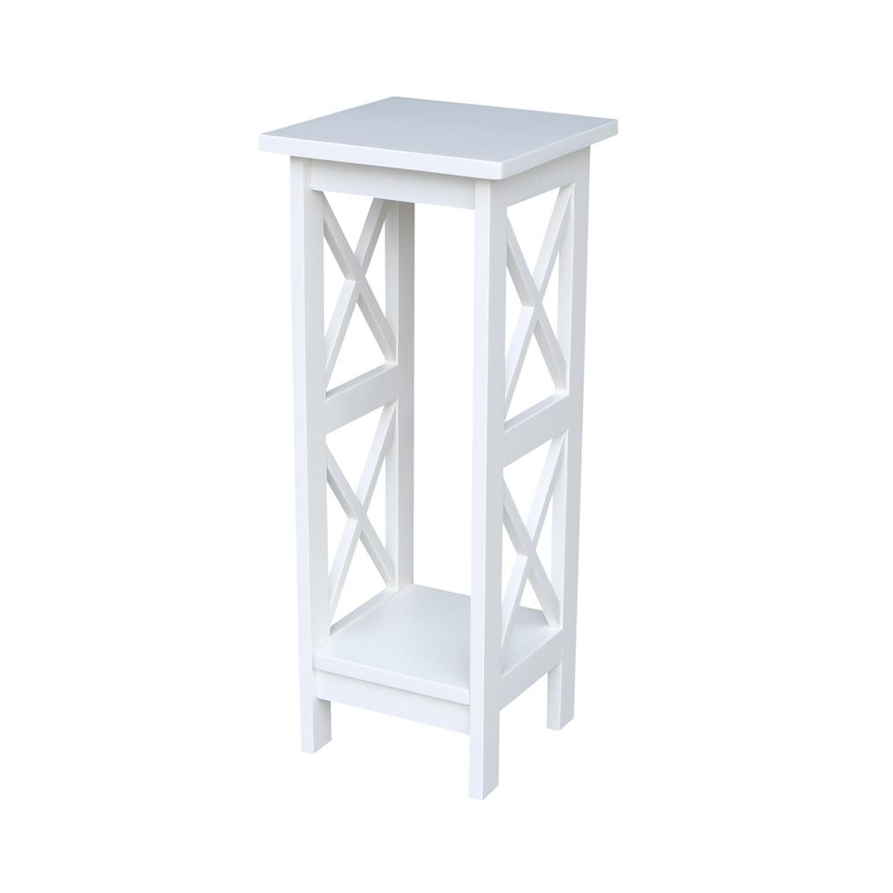 International Concepts Solid Wood 30 In H White Plant Stand