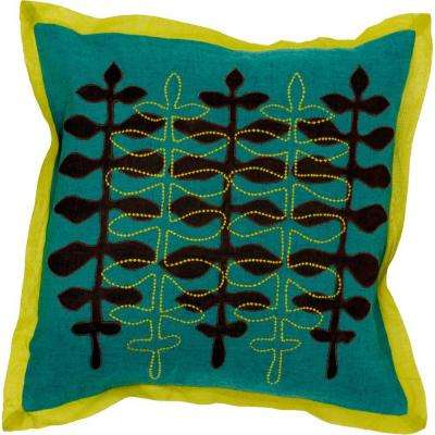 LeavesD 18 in. x 18 in. Decorative Down Pillow