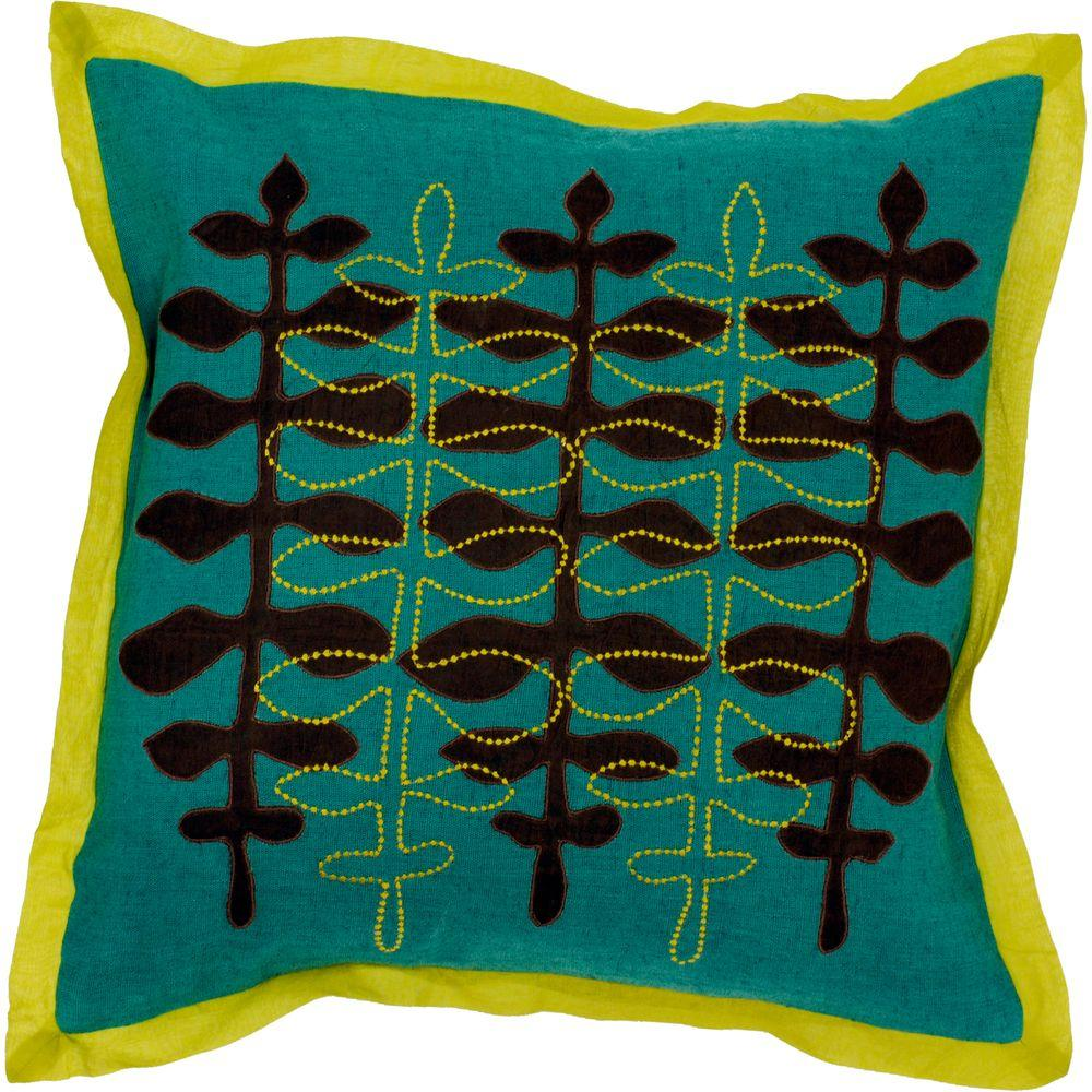 Artistic Weavers LeavesD 18 in. x 18 in. Decorative Down Pillow-DISCONTINUED