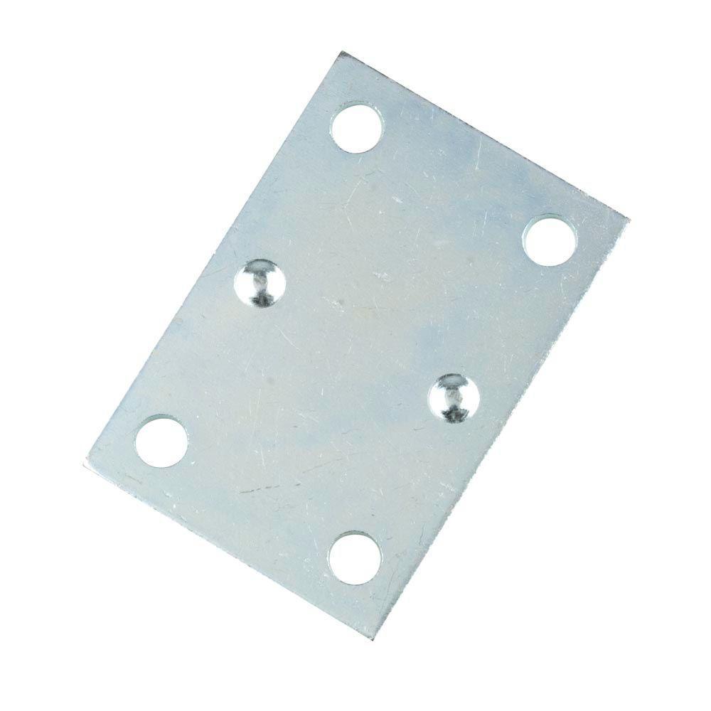 2 in. Zinc-Plated Double-Wide Flat Corner Brace (4 - Pack)