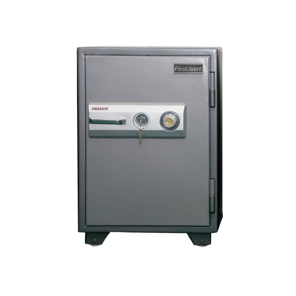 First Alert 2.77 cu. ft. Capacity and Solid Steel Construction Fire Resistant Combination Safe