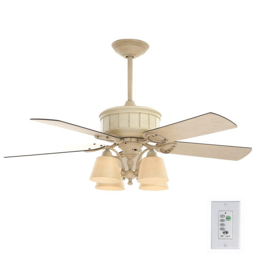 Hampton Bay Torrington 52 In Indoor Cottage Wood Ceiling Fan With Light Kit And Remote