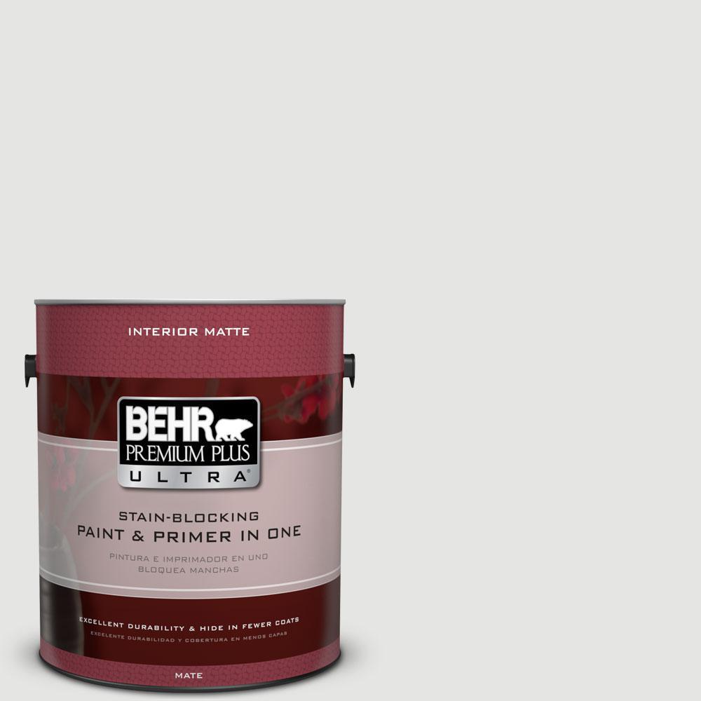 BEHR Premium Plus Ultra 1 gal. #ECC-35-2 Quartz Stone Flat/Matte Interior Paint
