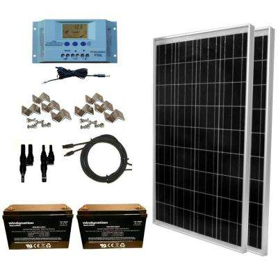 200-Watt Off-Grid Polycrystalline Solar Panel Kit with 12-Volt AGM Deep Cycle Battery