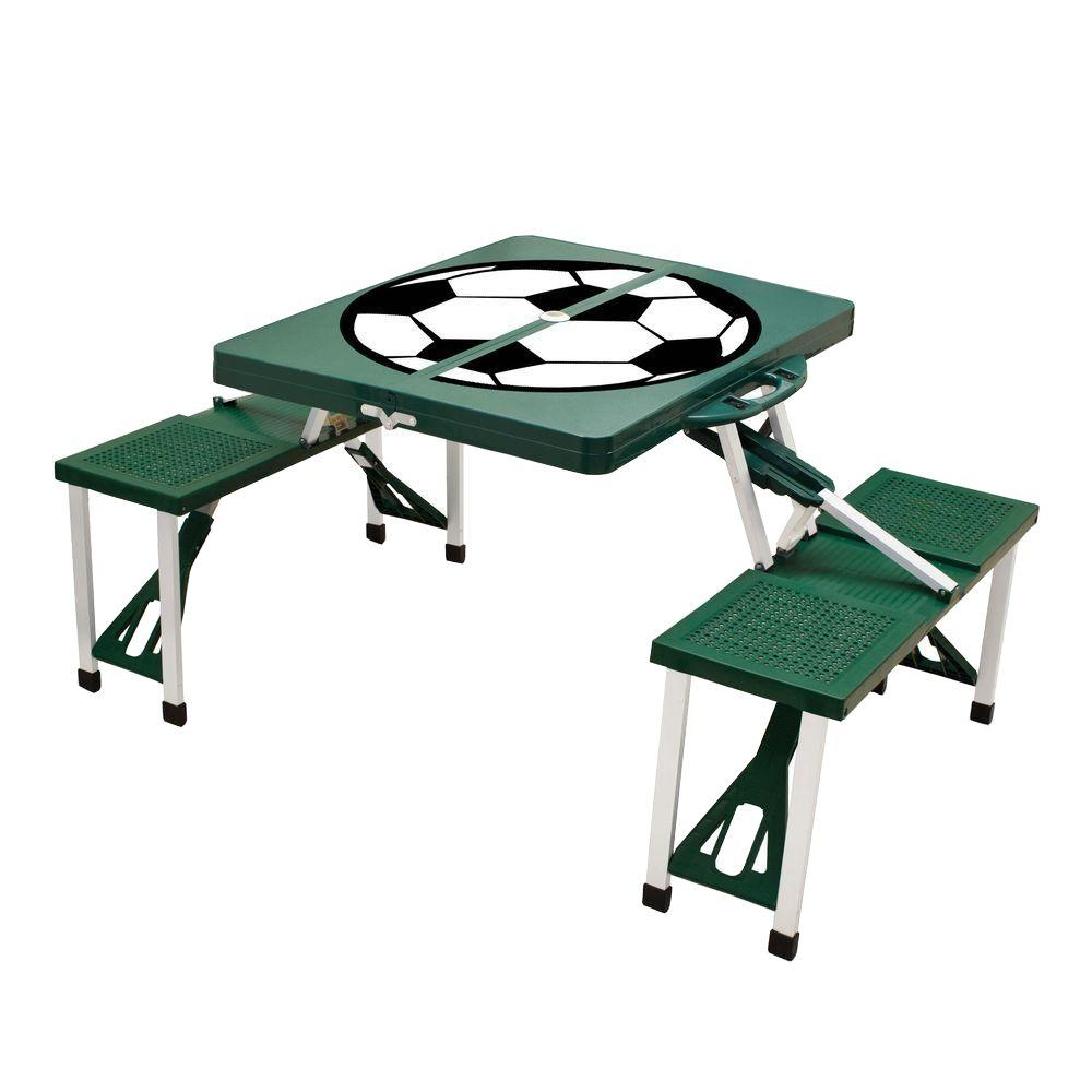 Picnic Time Hunter Green Sport Compact Patio Folding