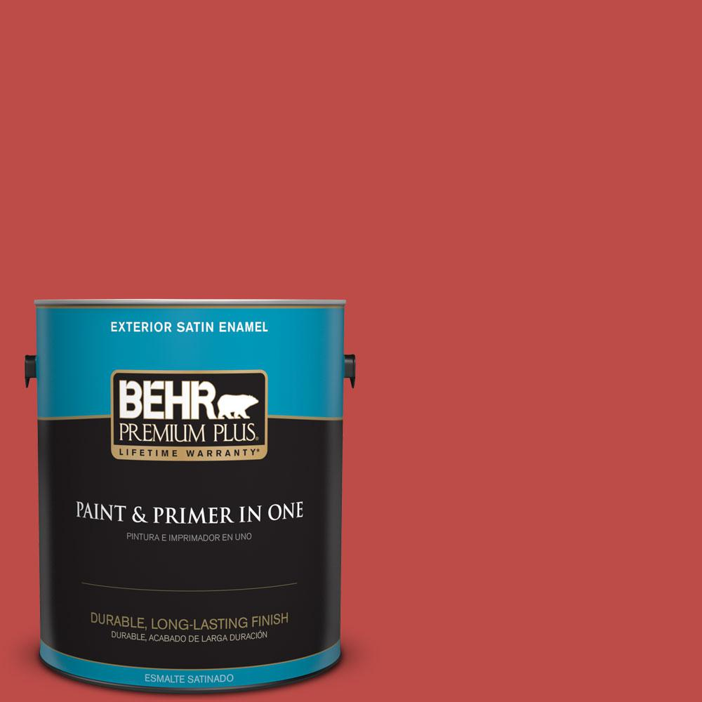 1-gal. #P160-6 Intrigue Satin Enamel Exterior Paint