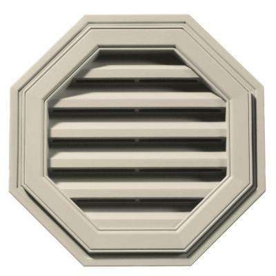 18 in. Octagon Gable Vent in Champagne