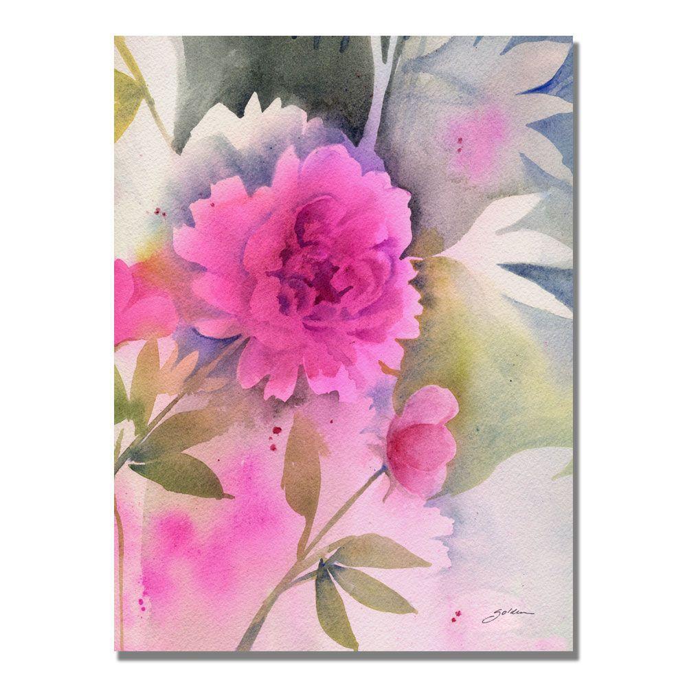 Trademark Fine Art 24 in. x 32 in. Peony Canvas Art