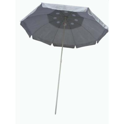 6 ft. Beach Patio Umbrella Base in Silver with Solar Guard with 1 in. Pole