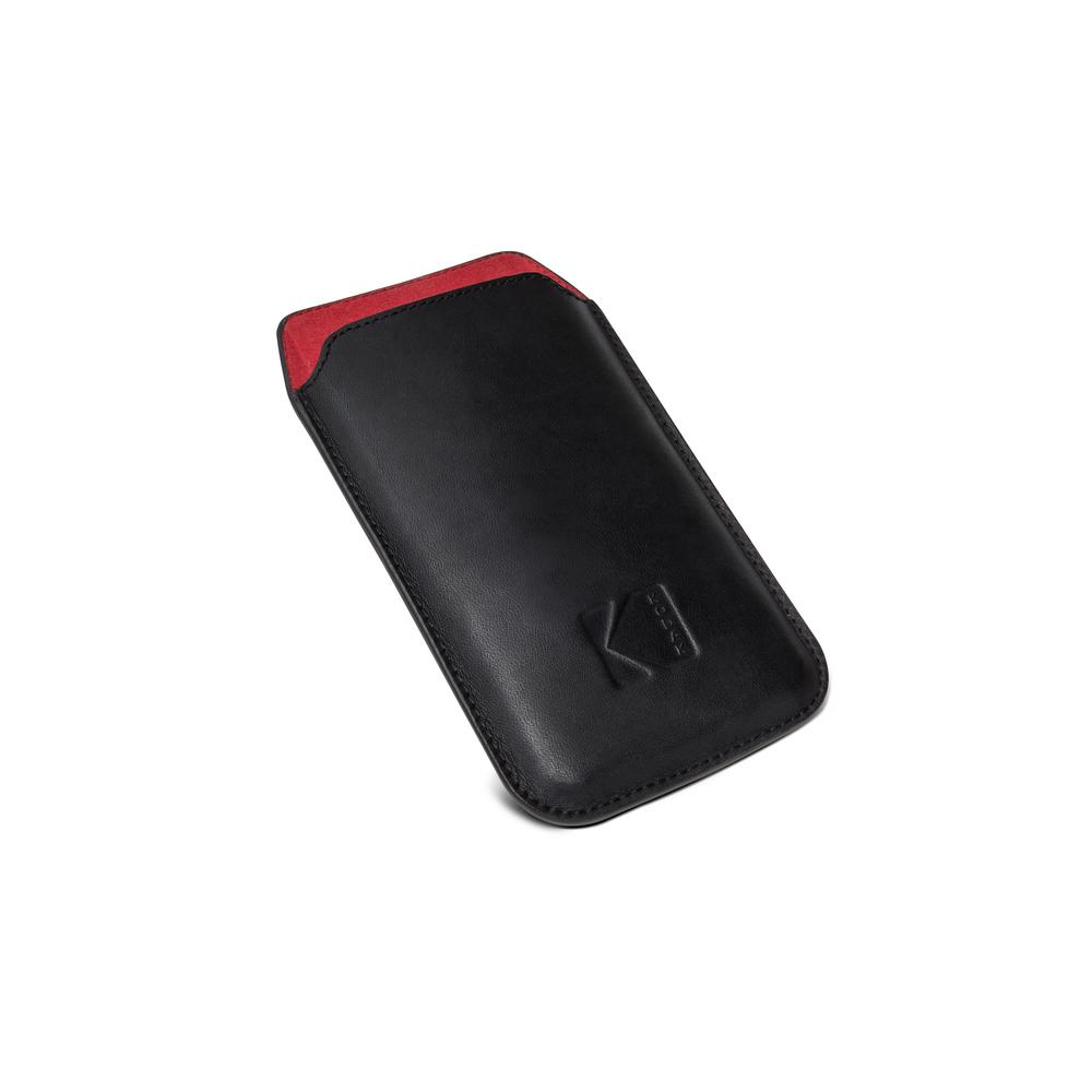 EKTRA Leather Pouch, Black/Red