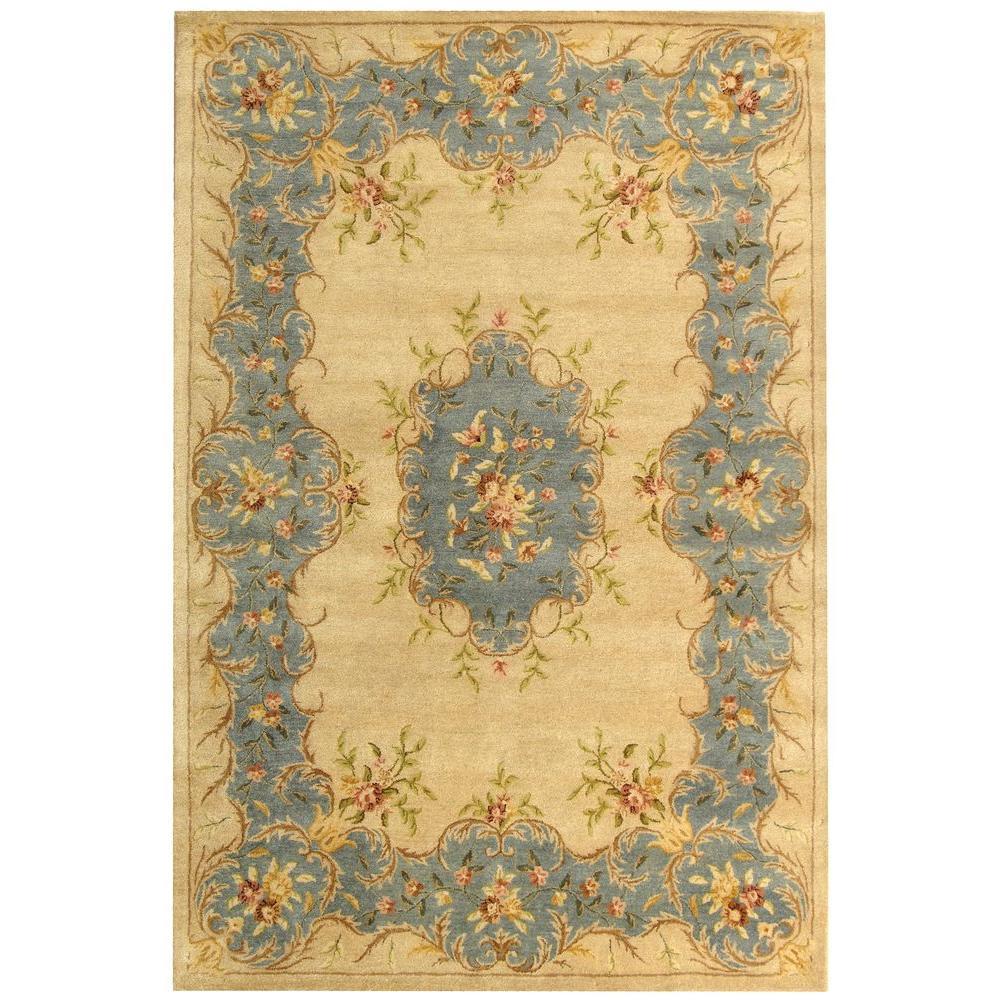 safavieh bergama ivory light blue 6 ft x 9 ft area rug brg166a 6 the home depot. Black Bedroom Furniture Sets. Home Design Ideas