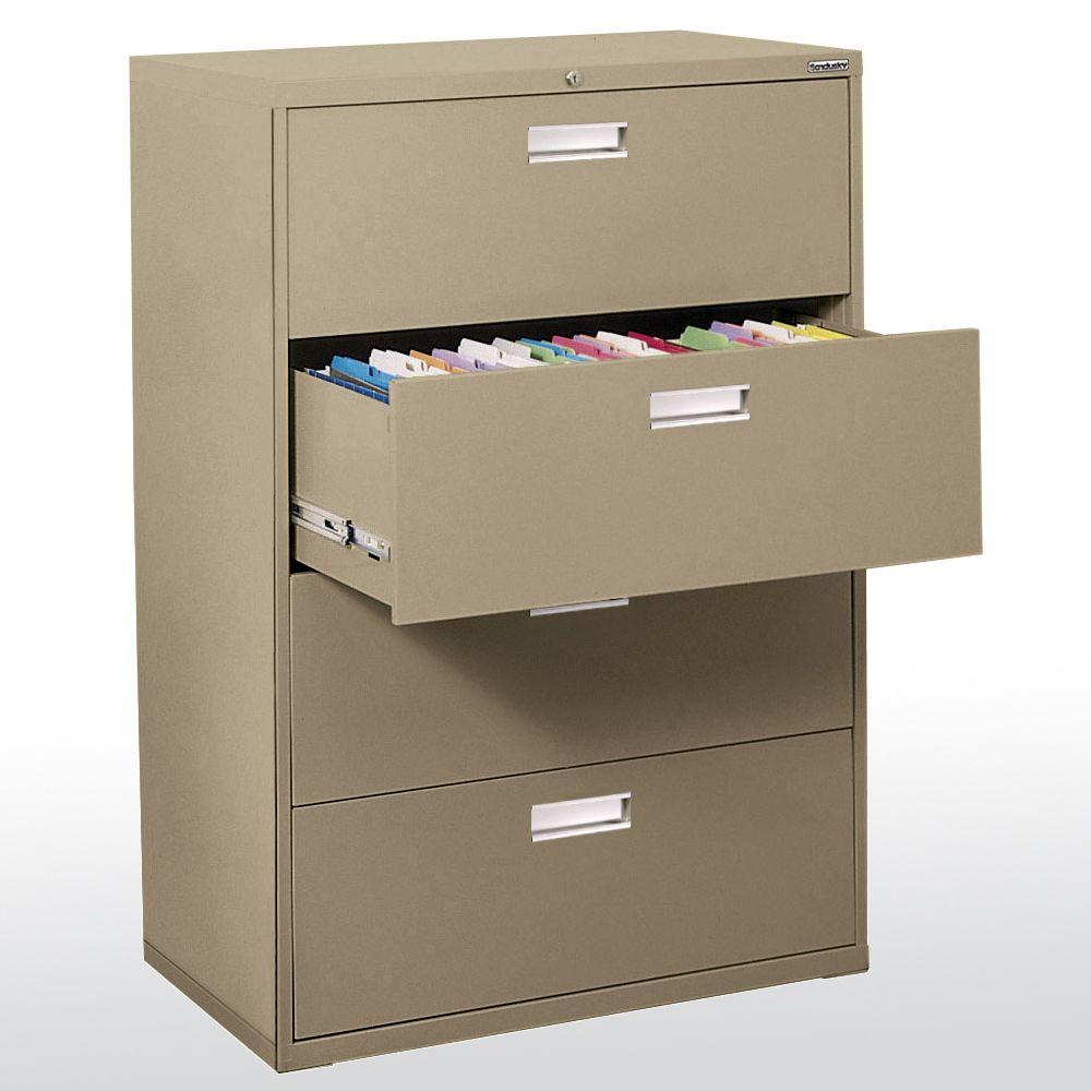 600 Series 36 in. W 4-Drawer Lateral File Cabinet in Tropic