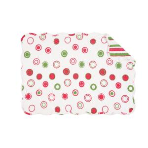 C & F Home White Holiday Bubbles Quilted Placemat (Set of 6) by C & F Home