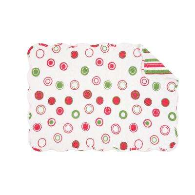 White Holiday Bubbles Quilted Placemat (Set of 6)