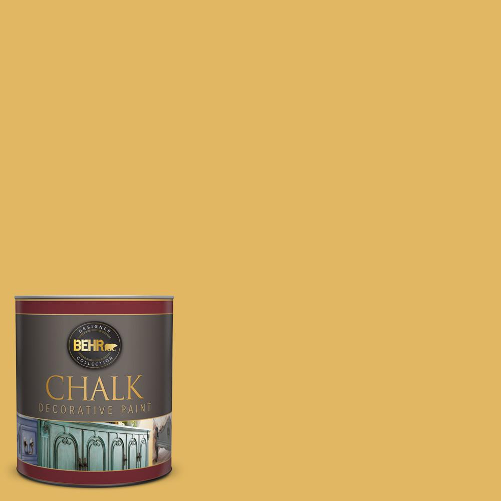 BEHR 1-qt. #BCP13 Vintage Mustard Interior Chalk Finish Paint