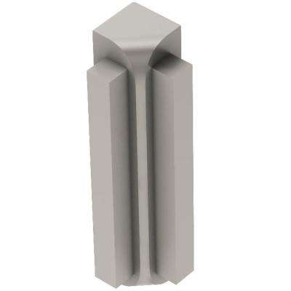 Rondec-Step Satin Nickel Anodized Aluminum 5/16 in. x 1-13/16 in. Metal 90° Inside Corner