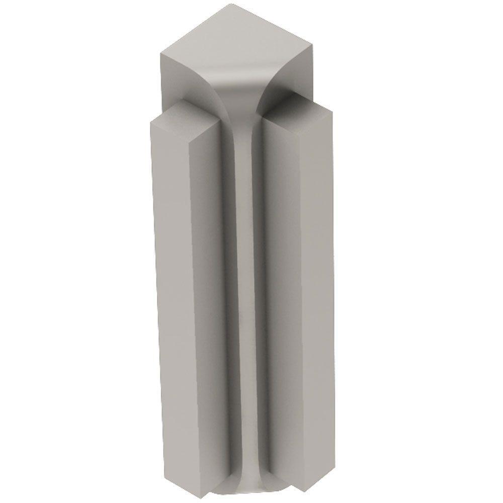 Rondec-Step Satin Nickel Anodized Aluminum 5/16 in. x 2-9/16 in. Metal 90° Inside Corner
