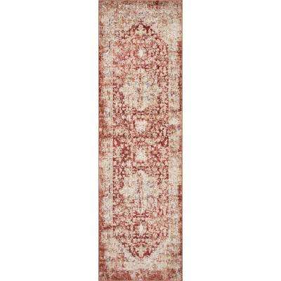 Manor Spice Jerome 2 ft. x 10 ft. Distressed Runner Rug