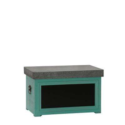 Medium Green Chalk Board Trunk