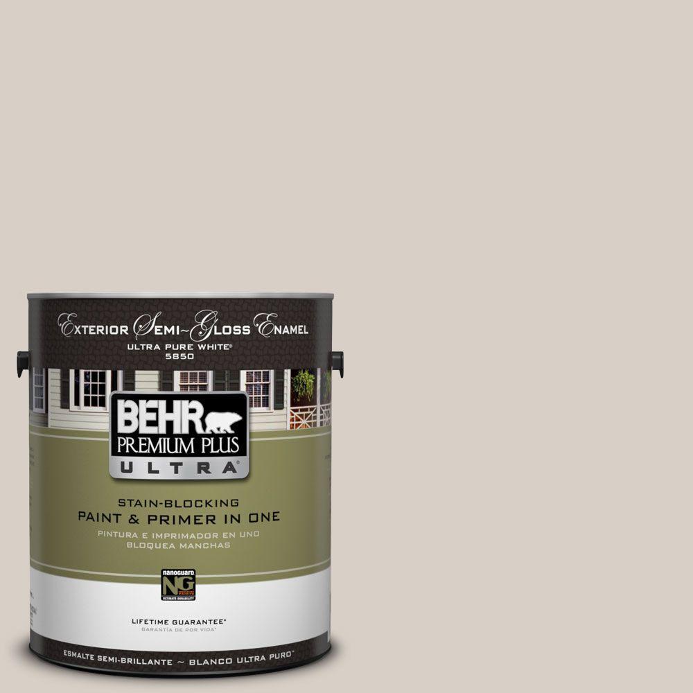 BEHR Premium Plus Ultra 1-Gal. #UL170-15 Mineral Semi-Gloss Enamel Exterior Paint