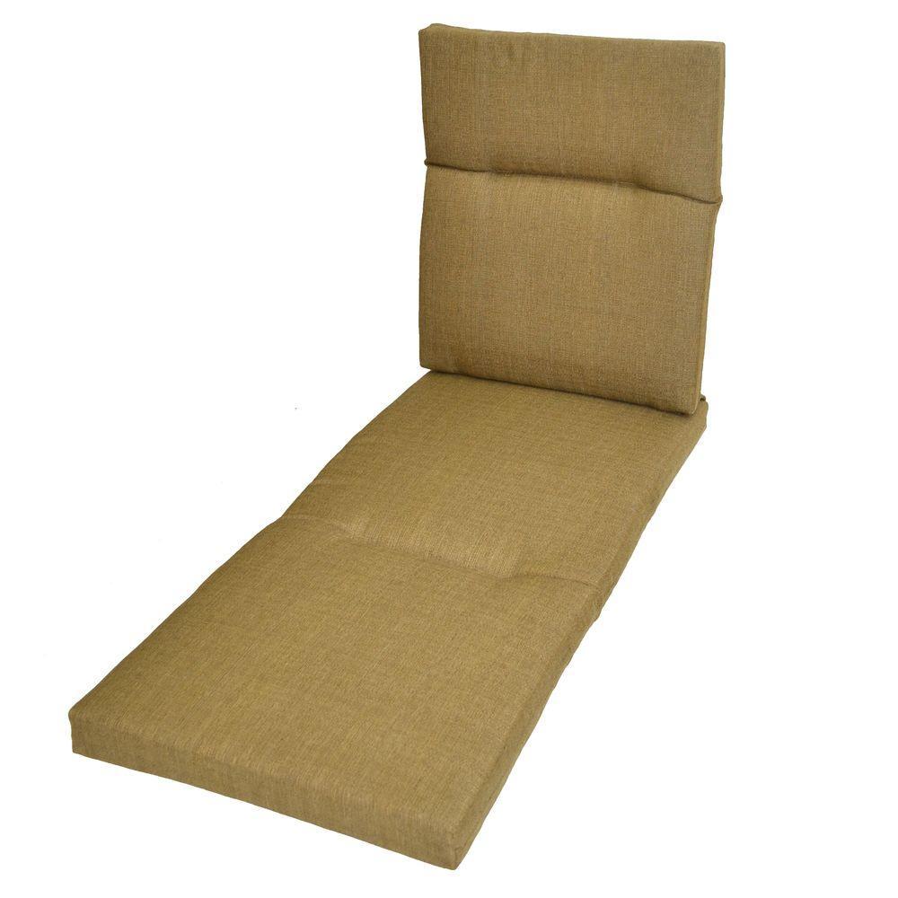 Hampton Bay Bark Textured Outdoor Chaise Lounge Cushion