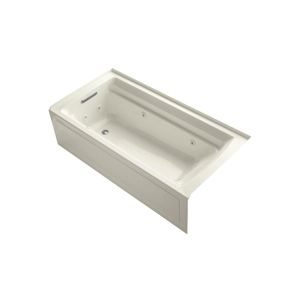 KOHLER Archer 6 ft. Whirlpool Tub in Biscuit