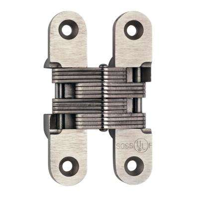 1 in. x 4 5/8 in. Satin Stainless Steel Invisible Hinge