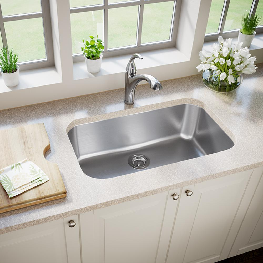 Mr Direct Undermount Stainless Steel 30 In Single Bowl Kitchen Sink In 16 Gauge 3018 16 The Home Depot