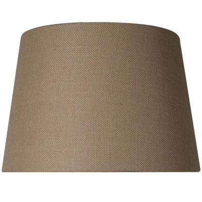 Burlap lamp shades lamps the home depot mix match burlap table lamp shade aloadofball Image collections