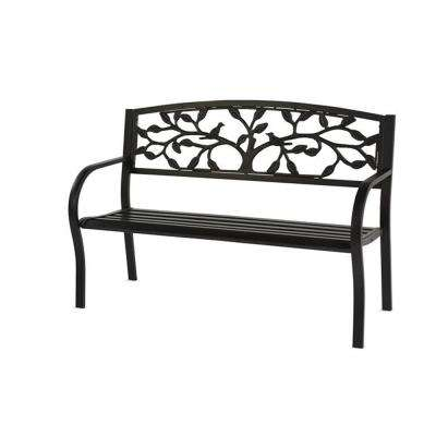 50 in. Tree of Life Metal Bench